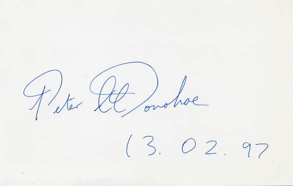 English Pianist PETER DONOHOE Autograph 1997