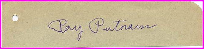 1931 NCAA Mile Champion RAY PUTNAM Autograph 1930