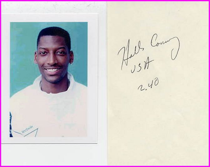 1988-1992 High Jump Medalist HOLLIS CONWAY Autograph & Pict