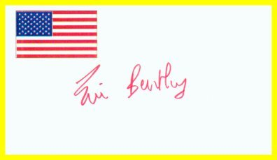 Renowned Critic & Playwright ERIC BENTLEY Hand Signed Card