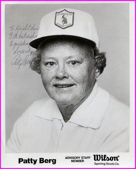 Golf Great PATTY BERG Hand Signed Photo 8x10