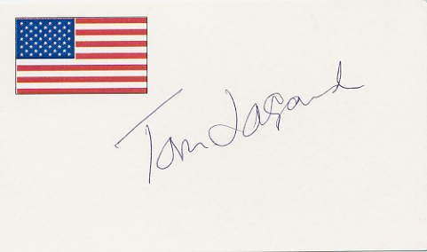 1976 Montreal Basketball Gold TOM LaGARDE Hand Signed Card