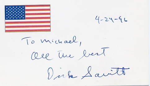 Tennis - 1951 Wimbledon Champion DICK SAVITT Hand Signed Card