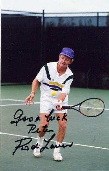 Tennis Legend ROD LAVER Hand Signed Photo 4x6