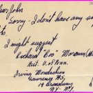 1940s Ohio State Track Star LLOYD DUFF Autograph Note Signed