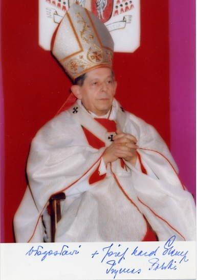 (Poland) Jozef Cardinal Glemp Hand Signed Photo 4x6