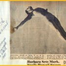 Ohio State Diving Star JOE MARINO Autograph Note Signed 1950