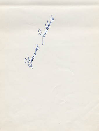1967-68 World Ice Dance Medalist YVONNE SUDDICK Autograph 1968