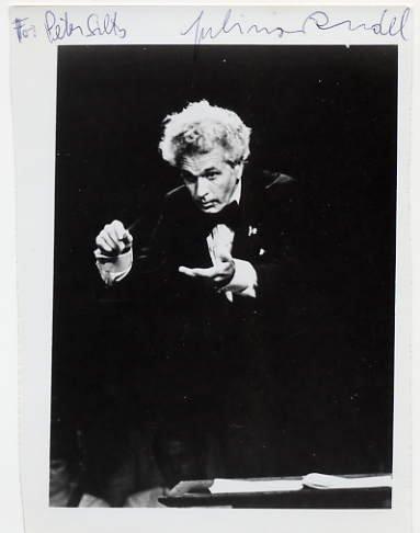 Austrian-American Conductor JULIUS RUDEL Hand Signed Photo