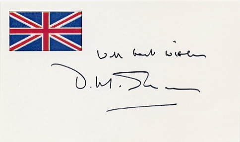 Novelist & Poet D. M. THOMAS Hand Signed Card 1995