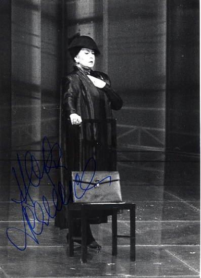 Austrian Soprano HELGA DERNESCH Hand Signed Photo 4x6