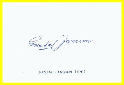 1952 Helsinki Marathon Bronze GUSTAF JANSSON Autograph