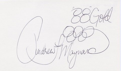1988 Seoul Boxing Gold ANDREW MAYNARD Hand Signed Card