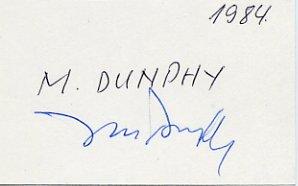 HOF Pepperdine & Olympic Volleyball Coach MARV DUNPHY Autograph 1984