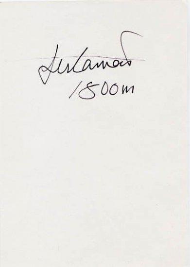 1992 Barcelona 1500 m Bronze MOHAMED SULEIMAN Hand Signed Card