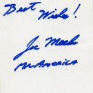 Weightlifter & Mr. America JOE MEEKO Autograph Note Signed
