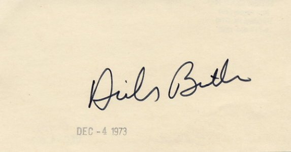 1948 & 1952 Figure Skating Gold DICK BUTTON Hand Signed Card 1973