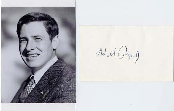 WILL ROGERS, Jr. Autographed Card 1979 & Pict