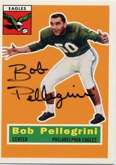 College Football HOF BOB PELLEGRINI Hand Signed Card