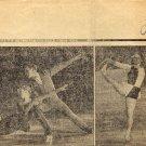 1969-70 Figure Skating World Champion GABY SEYFERT Signed Newspaper Cut 1968