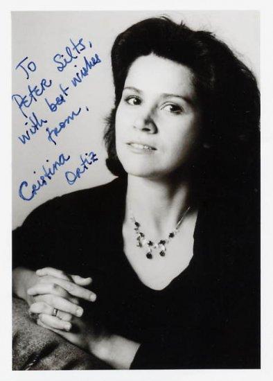 Brazilian Pianist CRISTINA ORTIZ Hand Signed Photo 5x7