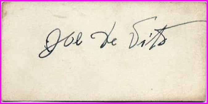 1920s American Wrestler JOE DE VITO Autographed Card 1930