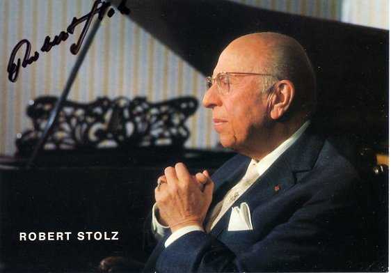 Austrian Composer & Conductor ROBERT STOLZ Hand Signed Photo 4x6