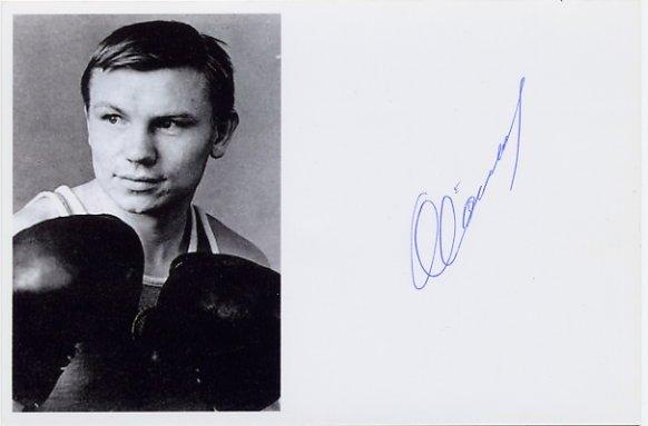 1964 Tokyo Boxing Gold STANISLAV STEPASHKIN Hand Signed Photo Card
