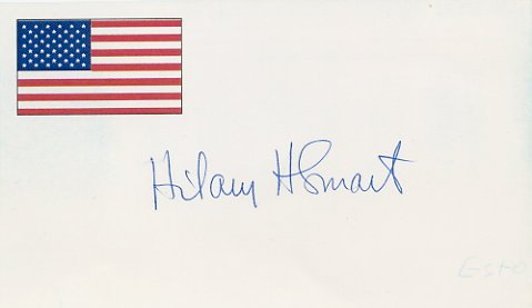 1948 London Yachting Gold HILARY SMART Hand Signed Card