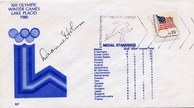 1972 Sapporo Speed Skating Gold DIANNE HOLUM Hand Signed Cover 1980