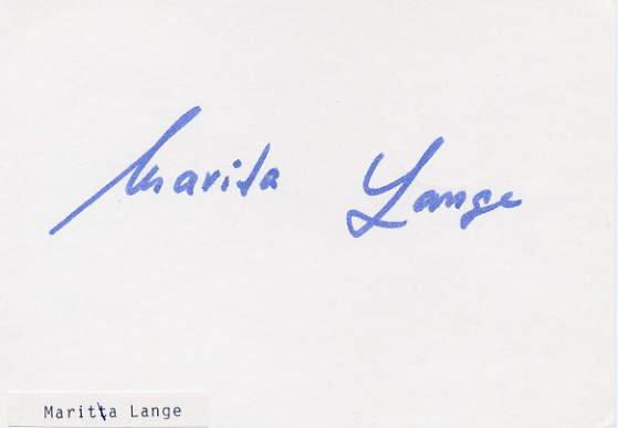 1968 Mexico City Shot Put Silver MARITA LANGE Hand Signed Card