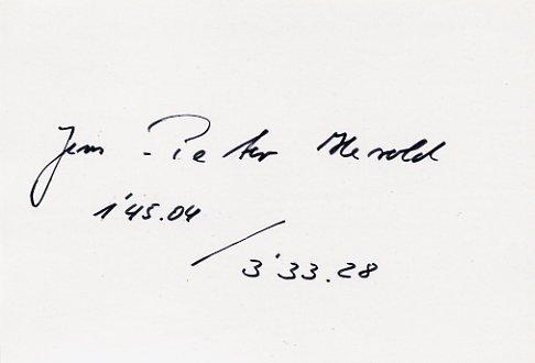 1988 Seoul 1500 m Bronze JENS-PETER HEROLD Autograph