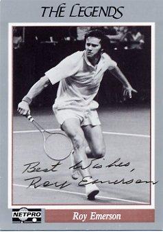 1960s Tennis Star ROY EMERSON Hand Signed NETPRO Card 1991