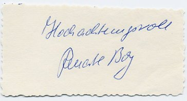 1964 Tokyo Shot Put Silver RENATE GARISCH BOY Autograph