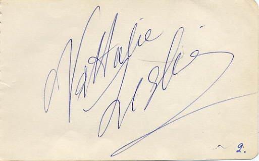 Famous Russian Dancer NATHALIE LESLIE KRASSOVSKA Autograph