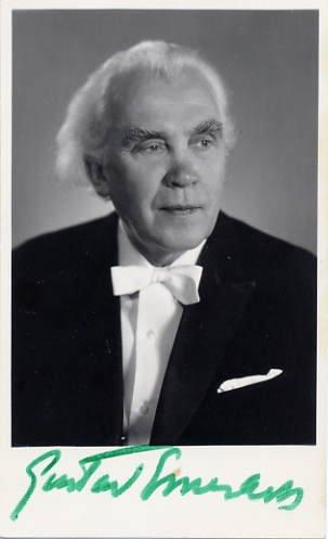 Estonian Composer & Conductor GUSTAV ERNESAKS Hand Signed Photo 1977