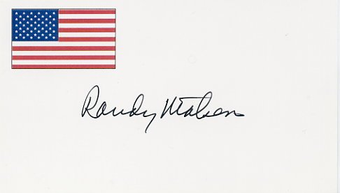 1968 Mexico City Shot Put Gold & WR  RANDY MATSON Hand Signed Card