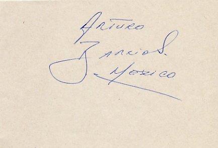 Mexican Long Distance WR Runner ARTURO BARRIOS Autograph