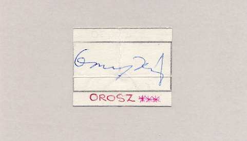 1960 Rome Football Bronze PAL OROSZ Autograph 1963