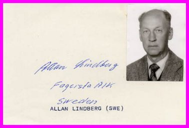 1946 Pole Vault European Champion ALLAN LINDBERG Autograph