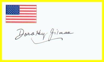 Mrs. Pollifax Spy Novels DOROTHY GILMAN Hand Signed Card