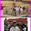 Great English Jockey LESTER PIGGOTT Hand Signed Photo 4x6 & Color Card 5x7