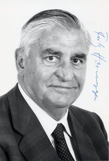 1982 President of Switzerland FRITZ HONEGGER Hand Signed Photo 4x6