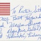 1952 Helsinki Basketball Gold WAYNE GLASGOW Autograph Note Signed