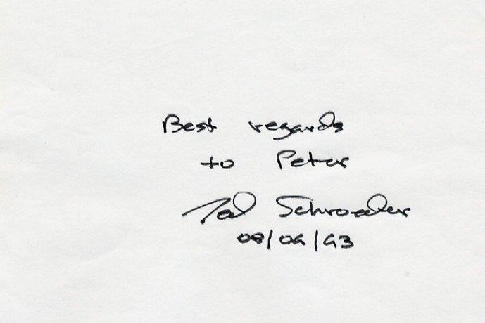 Tennis - 1949 Wimbledon Champion TED SCHROEDER Autograph 1993