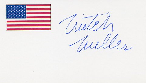 Pop Music Pioneer MITCH MILLER Hand Signed Card