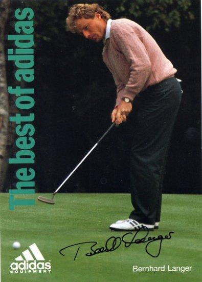 German Golf Legend BERNHARD LANGER Hand Signed Postcard 4x6