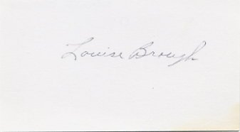Tennis Four-Time Wimbledon Champion LOUISE BROUGH Autographed Card