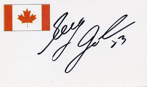 1994 Lillehammer Ice Hockey Silver & NHL GREG JOHNSON Hand Signed Card
