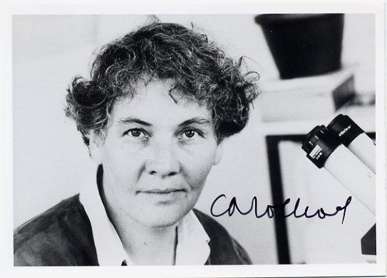 German Biologist 1995 Nobel Laureate CHRISTIANE NUSSLEIN-VOLHARD Hand Signed Photo